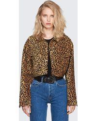 RE/DONE - Leopard-print Cropped Jacket - Lyst