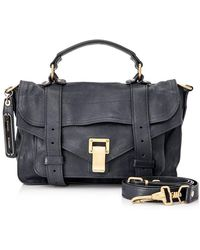 Proenza Schouler Pre-owned Ps1 Tiny Leather Satchel - Blue