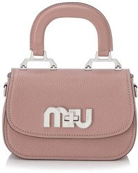dec49c0a9ab1 Miu Miu - Madras Logo Crossbody Bag - Lyst
