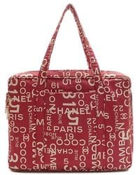 Chanel | By Sea Line Travel Bag /red (c-1234) | Lyst