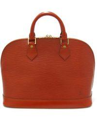 52760ae16f77 Louis Vuitton - Authentic Alma Handbag M52143 Epi Leather Kenya Brown Used  - Lyst