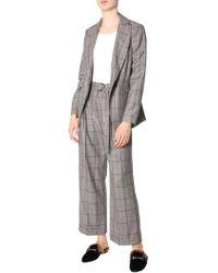 Brunello Cucinelli - Overcheck Wool Suit - Lyst