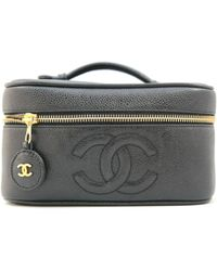 Chanel | Vanity Bag Caviar Leather Black | Lyst