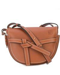 Gate Small Bag in Rust Soft Natural Calf Loewe wg21R