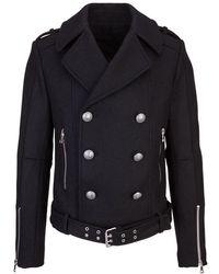 Balmain - Abb Uomo Jackets Noir - Lyst