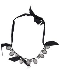 Lanvin | Pre-owned Crystal Fabric Necklace | Lyst