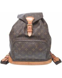 Louis Vuitton - M51135 Montsouris Gmbackpack - Daypack Brown Monogramcanvas Lv 0514 - Lyst