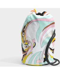 Emilio Pucci - Terry Cloth Bag In Azzuro Mentha Terry Cloth - Lyst