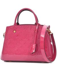 Louis Vuitton - Vernis Montaigne Bb 2 Way Handbag Rose Andy An M50172 - Lyst
