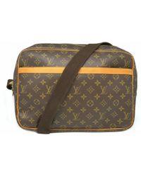 2ac9761cfae3 Louis Vuitton - Reporter Gm Shoulder Bag Monogram Brown M45252 0784 - Lyst
