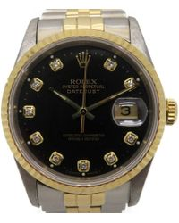 Rolex - Datejust Watch Automatic 16233g/w Stainless Steel Black 8069 - Lyst