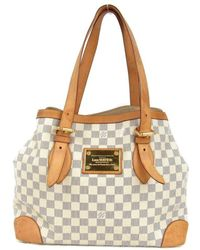 144ecd5fa91d Louis Vuitton - Hampstead Mm Tote Bag Damier Azur N51206 - Lyst