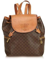 Céline - Macadam Drawstring Backpack - Lyst