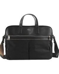 Paul Smith - 2way Briefcase Nylon Black Multi-stripe Handbag Shoulder Bag Men - Lyst