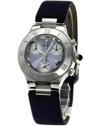 Cartier | Must 21 Chronoscaph Watches W1020013 Stainless Steel/satin Women | Lyst