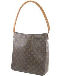 Louis Vuitton | Monogram Canvas Shoulder Bag M51145 Looping Gm | Lyst