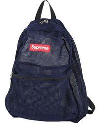 Supreme - Mesh Backpack Box Logo Navy [unused] - Lyst