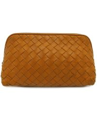 a115fe519271 Bottega Veneta - Bv Cosmetic Pouch Intrecciato Leather Orange 7565 - Lyst · Louis  Vuitton - Authentic Cosmetic Pouch Bag Epi Leather Orange M40642 ...