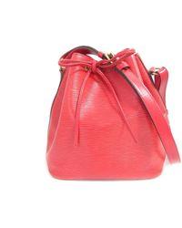 3bb2a0110ff4 Louis Vuitton - Authentic Petite Noe Shoulder Bag Epi Leather Rouge M5901e  - Lyst