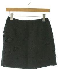 Miu Miu - Mini Skirt Black 38 - Lyst