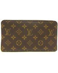 Louis Vuitton   Monogram Zippy Organizer Wallet Brown Leather M60002   Lyst