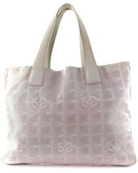 67962c328 Chanel - Travel Line Canvas, Leather Pinks Tote Bag - Lyst