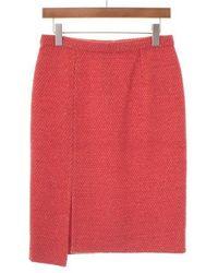 Louis Vuitton   Midi Skirt Orange 38   Lyst