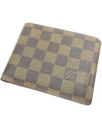 Louis Vuitton - Damier Canvas Bifold Wallet With Coin Pocket N60011 Portefeiulle · Florin - Lyst
