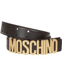 Moschino - Black Leather Belt - Lyst