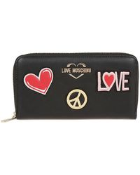 Moschino - Black Faux Leather Wallet - Lyst