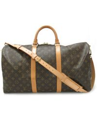 Louis Vuitton - Keepall Bandouliere 50 Boston Bag M41416 Monogram Brown - Lyst