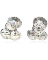 c95cb45d2 Lyst - Louis Vuitton Monogram Cufflinks Silver in Metallic for Men