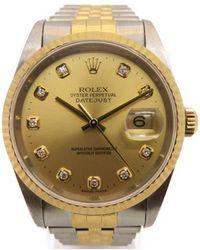 Rolex - Datejust Watch Stainless Steel 18k Yellow Gold 16233g/p 4079 - Lyst