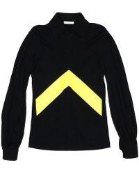 Céline - Half Zip Collar Sweatshirt Black - Lyst