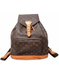 Louis Vuitton - M51135 Montsouris Gmbackpack - Daypack Brown Monogramcanvas Lv 0454 - Lyst