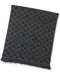 Louis Vuitton - Muffler Echarpe Monogram Classic Anthracite Wool100% M78526[brand New][authentic] - Lyst