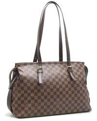bb1ad5f0cce5 Louis Vuitton - Damier Chelsea Shoulder Bag N51119 Ebene  58682 - Lyst