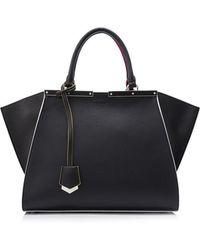 fb6417c3e4f5 Lyst - Fendi Shop Online Grey Leather 2 Jours Handle Bag in Gray