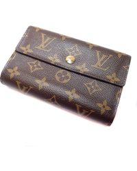 Louis Vuitton - Monogram Canvas Bifold Wallet With Coin Pocket M60047 Portefeiulle · Alexandra - Lyst
