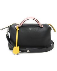 30b8e650cbc1 Fendi - By The Way 2way Hand Shoulder Bag Blackxpinkxyellow Leather 8bl124  - Lyst