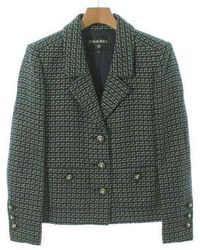 Chanel - Tailored Jacket Green 38 - Lyst