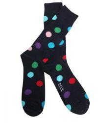Paul Smith - Polka Dots Printed Socks - Lyst