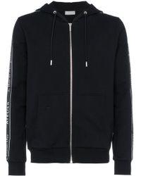 Dior Homme - Logo Ribbon Cotton Zip Hoodie - Lyst