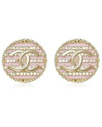 Chanel - Border Coin Cocomark Earrings Pink Ghw Ab0706[brand New][authentic] - Lyst