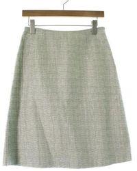 Miu Miu - Midi Skirt Grey 40 - Lyst
