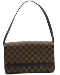 d1b60fe73c1f Louis Vuitton - Lv Tribeca Long Shoulder Bag N51160 Damier Brown 3958 - Lyst