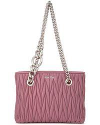 Miu Miu - Matelasse Shopping Bag - Lyst