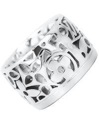 Louis Vuitton - Grand Bergh Bando Ring Monogram K18wg White Gold #52 - Lyst