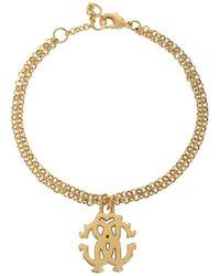 Roberto Cavalli - Rc Icon Golden Metal Bracelet - Lyst