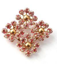 Louis Vuitton   Brooch Rhinestone Brooch Millewnnu Gp Pink Red Accessories Women's Vuitton   Lyst
